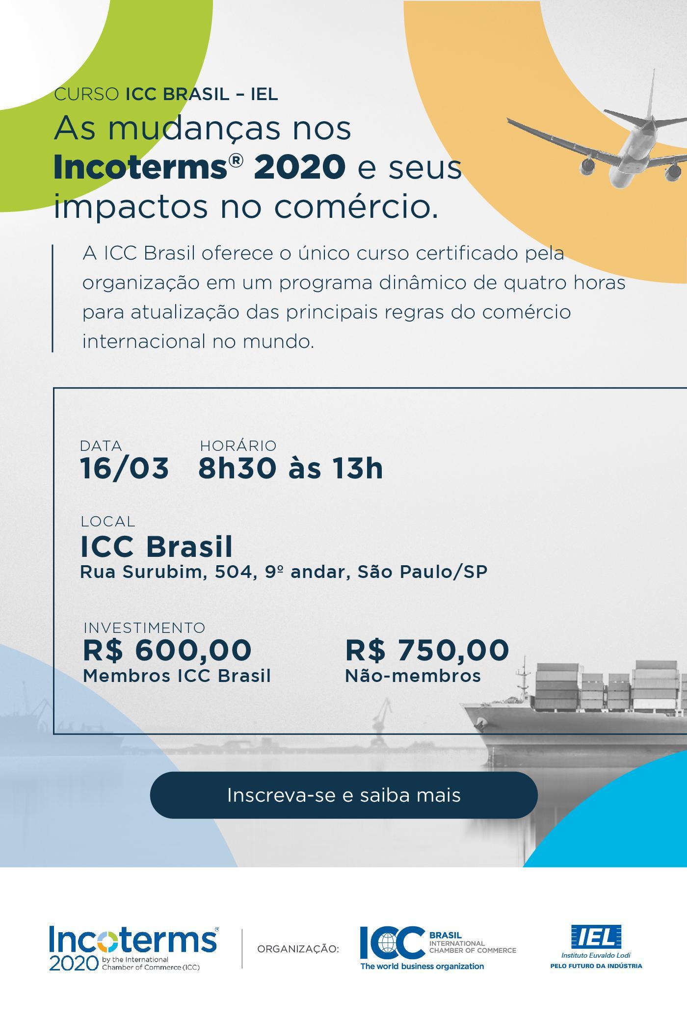 ICC realiza curso sobre Incoterms® 2020 no Brasil ...